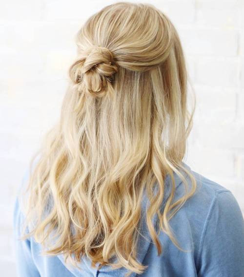 Best ideas about Cute Half Up Half Down Hairstyles . Save or Pin Cute Half Up Down Hairstyles Easy Now.