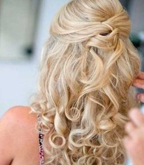 Best ideas about Cute Half Up Half Down Hairstyles . Save or Pin 30 Best Half Up Curly Hairstyles Now.