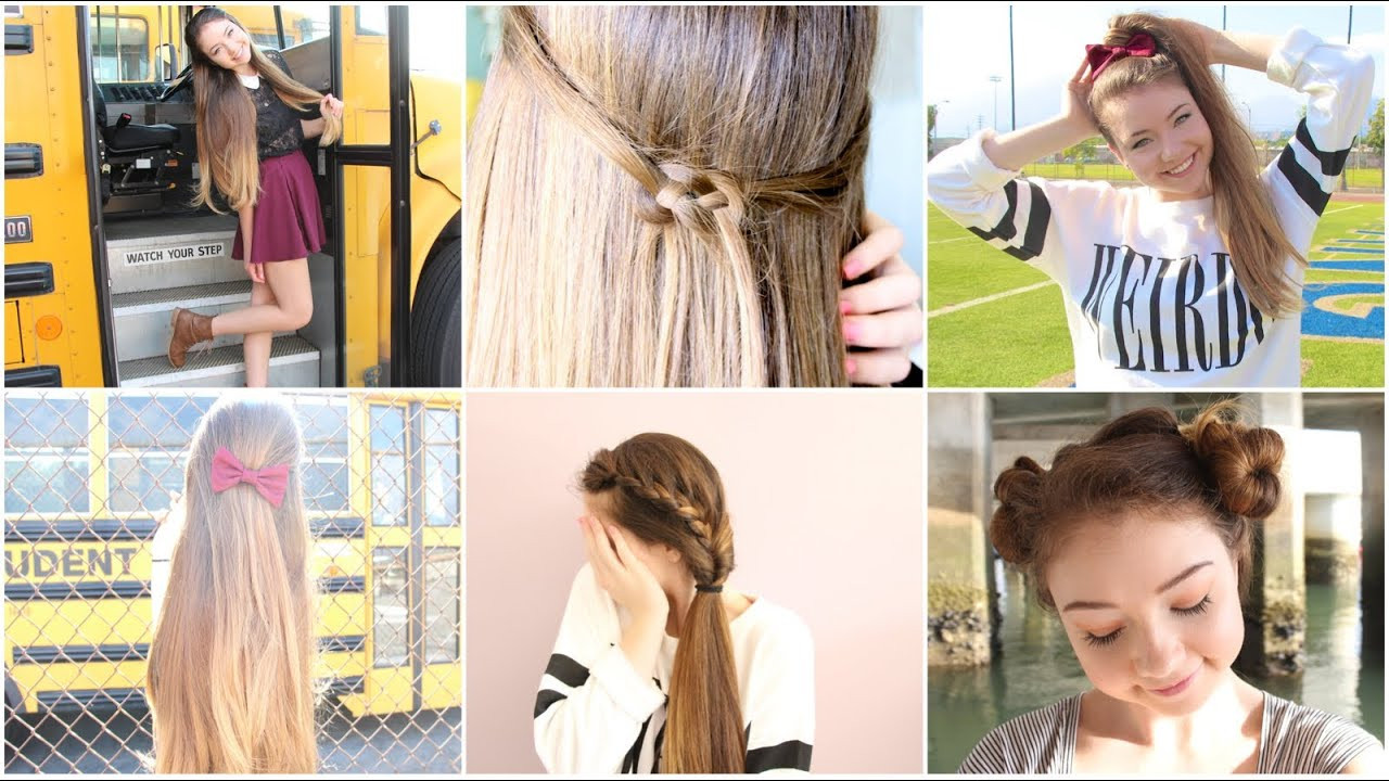 Best ideas about Cute Heatless Hairstyles . Save or Pin 5 Quick n Easy Back to School Heatless Hairstyles Now.