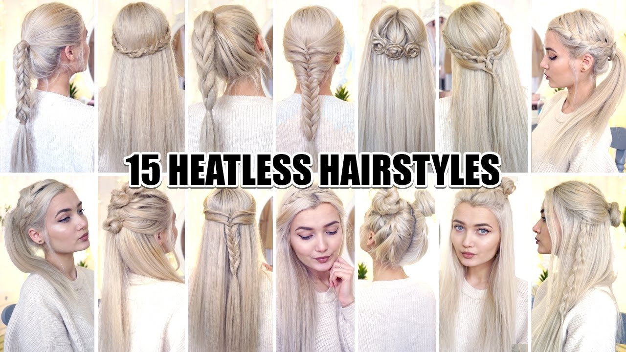 Best ideas about Cute Heatless Hairstyles . Save or Pin Easy Hairstyles For First Day High School Now.