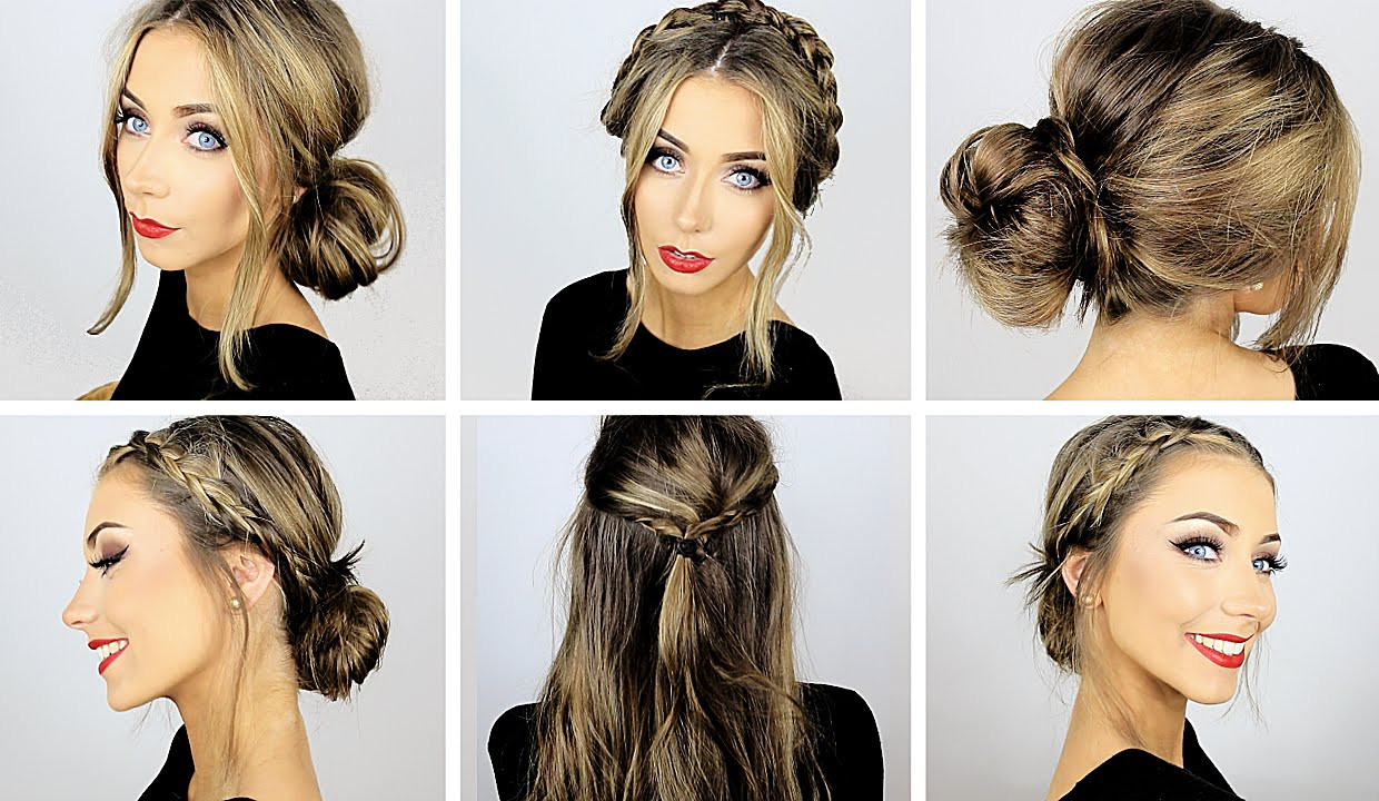 Best ideas about Cute Heatless Hairstyles . Save or Pin 5 Easy Heatless Hairstyles for Work & School ♡ Danielle Now.