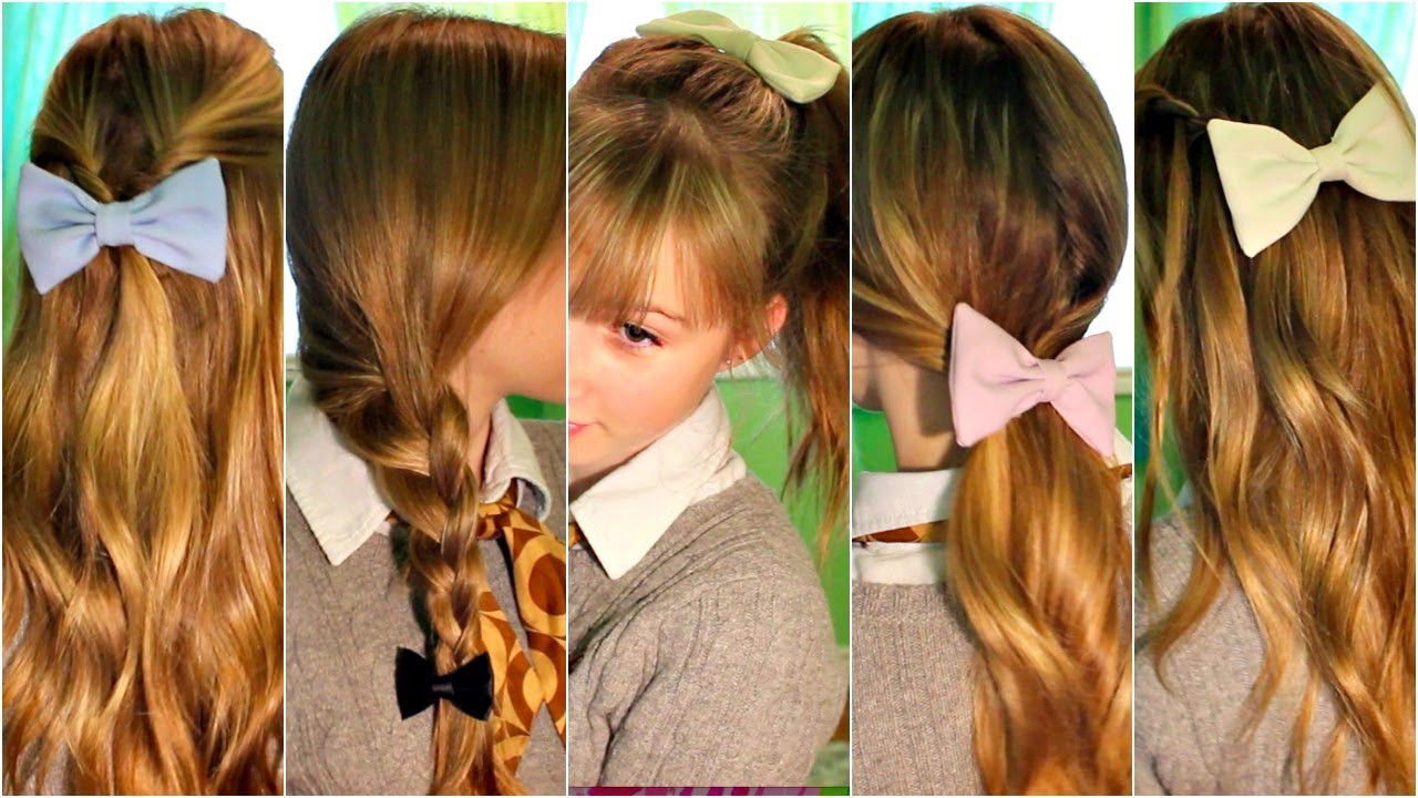 Best ideas about Cute Heatless Hairstyles . Save or Pin SIMPLE FALL HAIRSTYLE QUICK & EASY HEATLESS HAIRSTYLES Now.