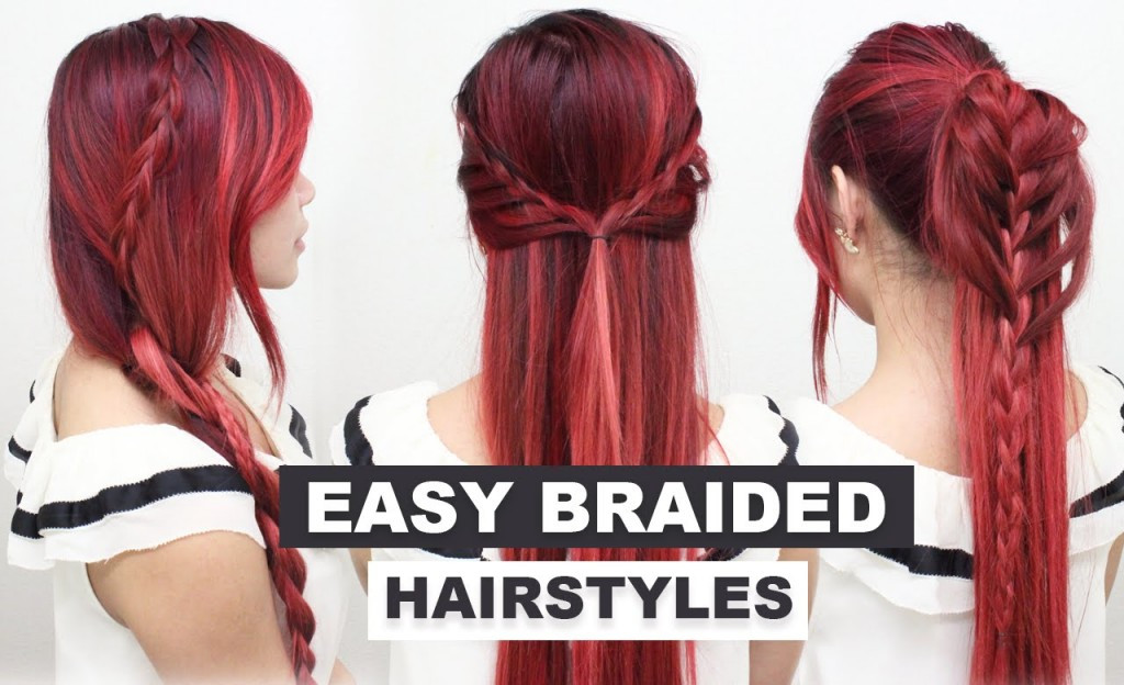 Best ideas about Cute Heatless Hairstyles . Save or Pin 4 Easy Braided Hairstyles l Cute Heatless Hairstyles for Now.