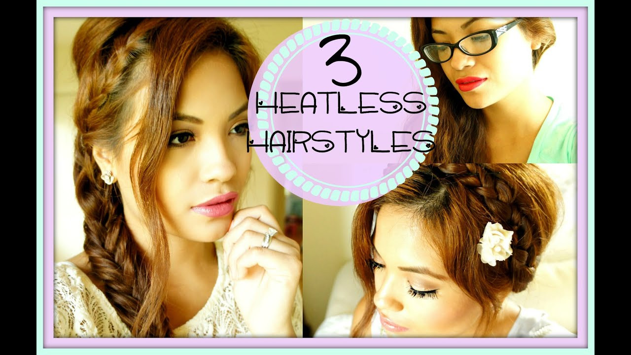 Best ideas about Cute Heatless Hairstyles . Save or Pin Back To School 3 Cute Easy Heatless Hairstyles Now.