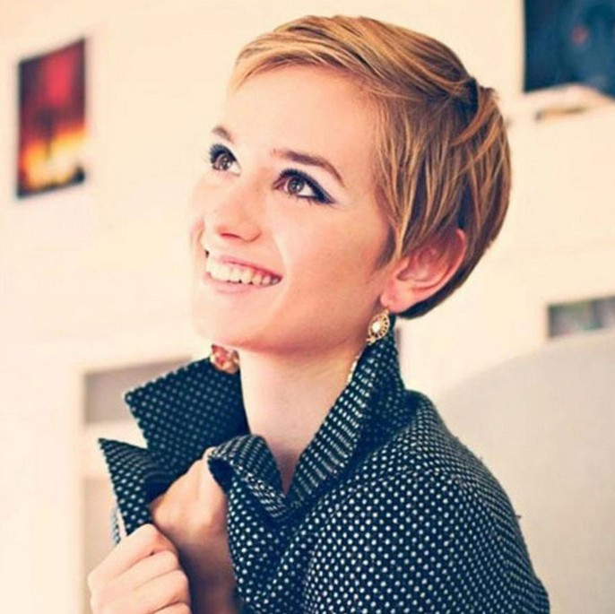 Best ideas about Cute Pixie Hairstyles . Save or Pin 21 Simple Easy Pixie Haircuts for Round Faces Now.