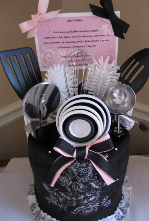 """Best ideas about Cute Wedding Gift Ideas . Save or Pin """"Kitchen Towel Cake"""" super cute bridal shower t idea Now."""