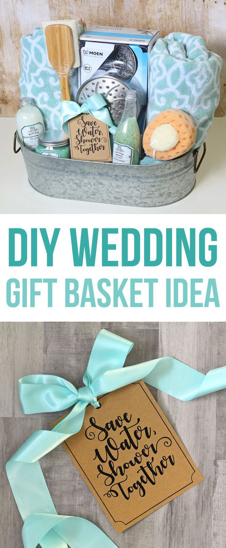 Best ideas about Cute Wedding Gift Ideas . Save or Pin This DIY wedding t basket idea has a shower theme and Now.