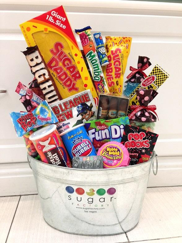 Best ideas about Dad Gift Basket Ideas . Save or Pin Sugar Factory to Celebrate Dads with Father s Day Gift Basket Now.