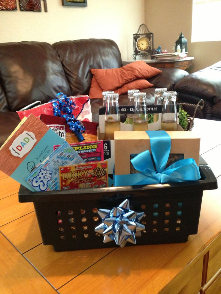 Best ideas about Dad Gift Basket Ideas . Save or Pin Dads birthday t basket Now.