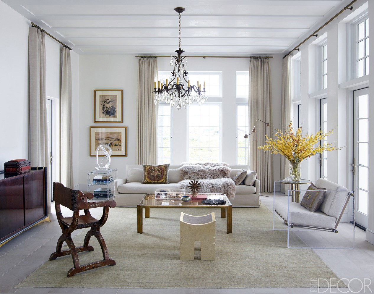 Best ideas about Decorating A Living Room . Save or Pin Chic Living Room Decorating Ideas and Design ELLE DECOR Now.