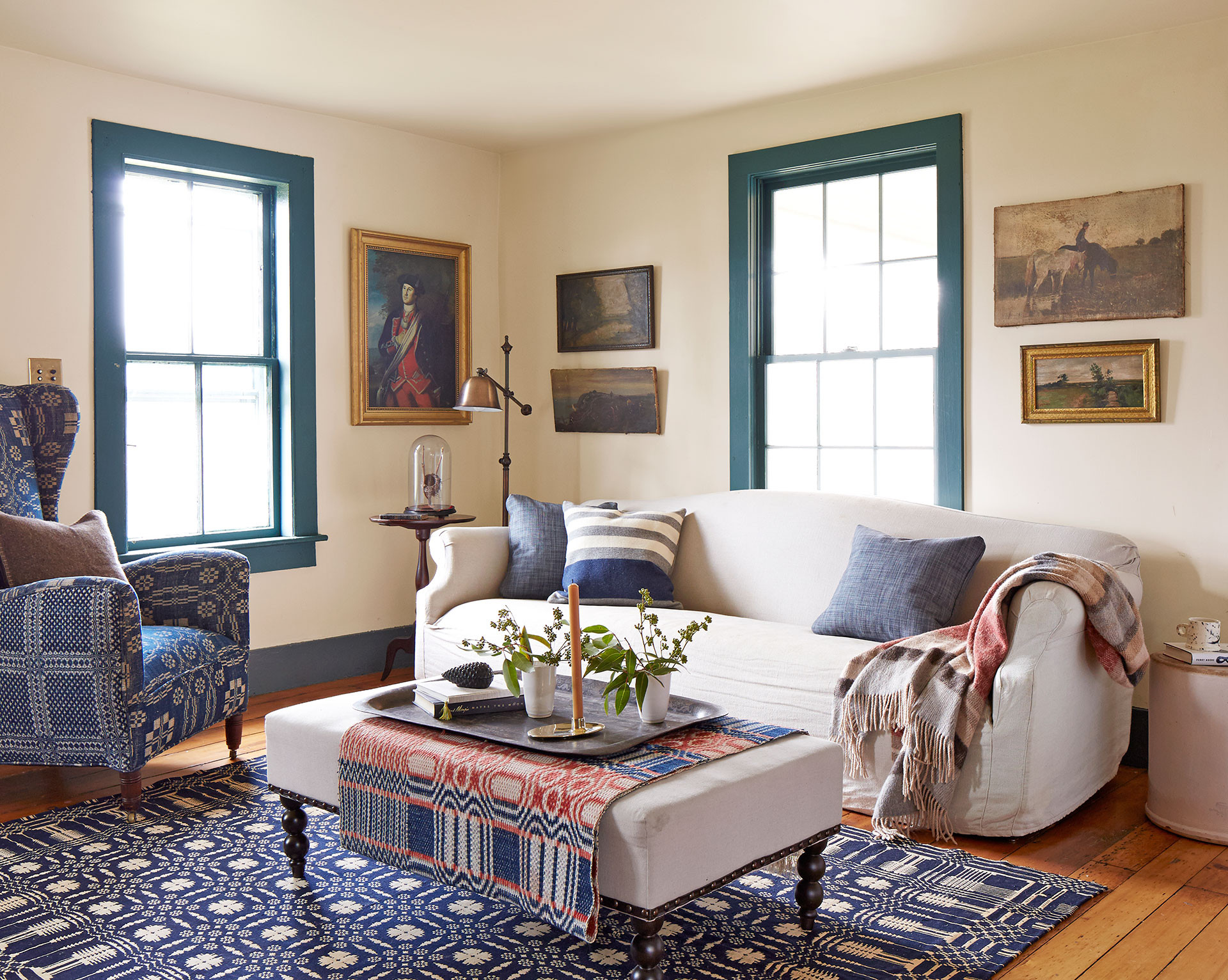 Best ideas about Decorating A Living Room . Save or Pin Patriotic Decor 4th of July Red White and Blue Now.