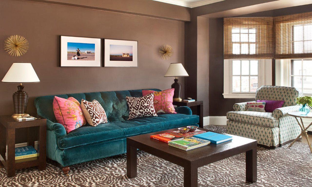 Best ideas about Decorating A Living Room . Save or Pin of teal n brown decor for lounge neutral living Now.