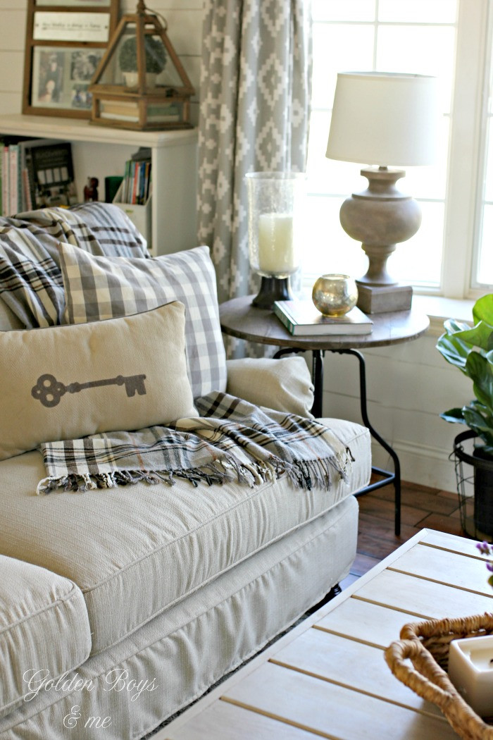 Best ideas about Decorating A Living Room . Save or Pin Golden Boys and Me Winter Decor in our Living Room Now.