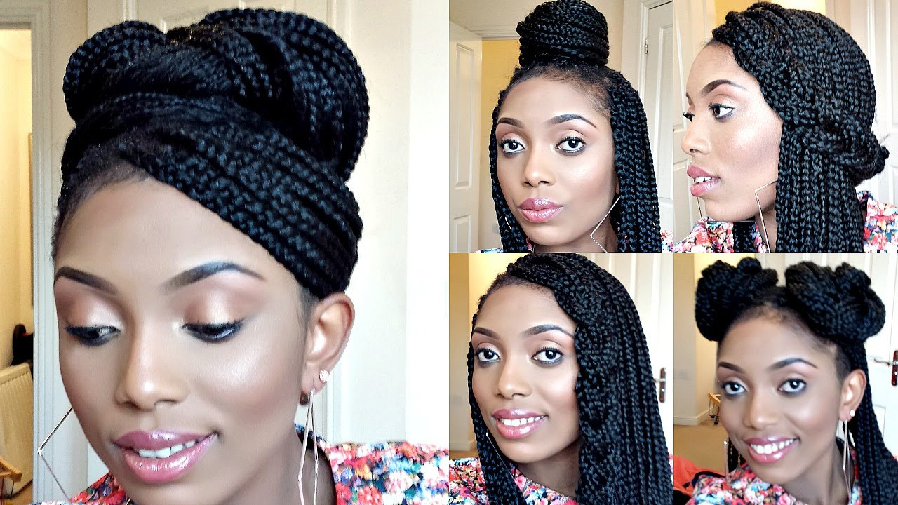 Best ideas about Different Hairstyles For Box Braids . Save or Pin How to do Box Braids and Braid Cornrows Now.
