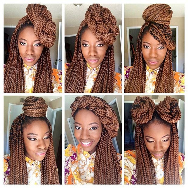 Best ideas about Different Hairstyles For Box Braids . Save or Pin 50 Box Braids Hairstyles That Turn Heads – StayGlam Now.