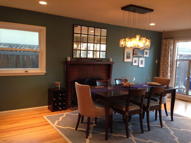 Best ideas about Dining Room Accent Wall . Save or Pin Teal Accent Wall Dining Room Now.