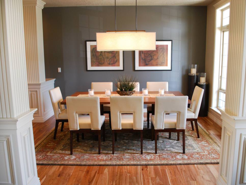 Best ideas about Dining Room Accent Wall . Save or Pin 23 Transitional Dining Room Designs Decorating Ideas Now.