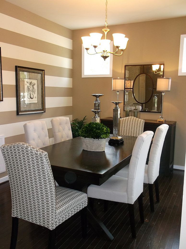 Best ideas about Dining Room Accent Wall . Save or Pin 10 Dining Rooms with Snazzy Striped Accent Walls Now.