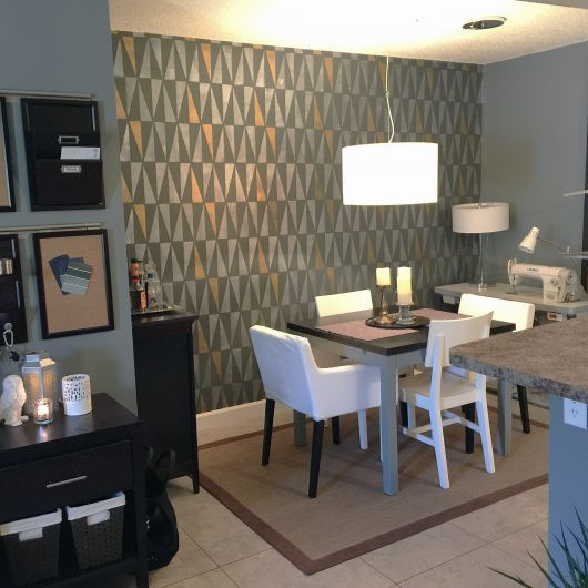 Best ideas about Dining Room Accent Wall . Save or Pin Stencil Ideas To Decorate Your Space Now.