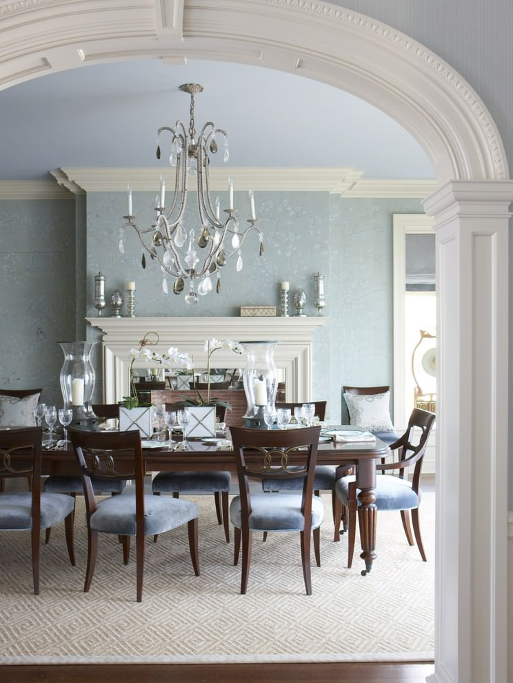Best ideas about Dining Room Design Ideas . Save or Pin 25 Blue Dining Room Designs Decorating Ideas Now.