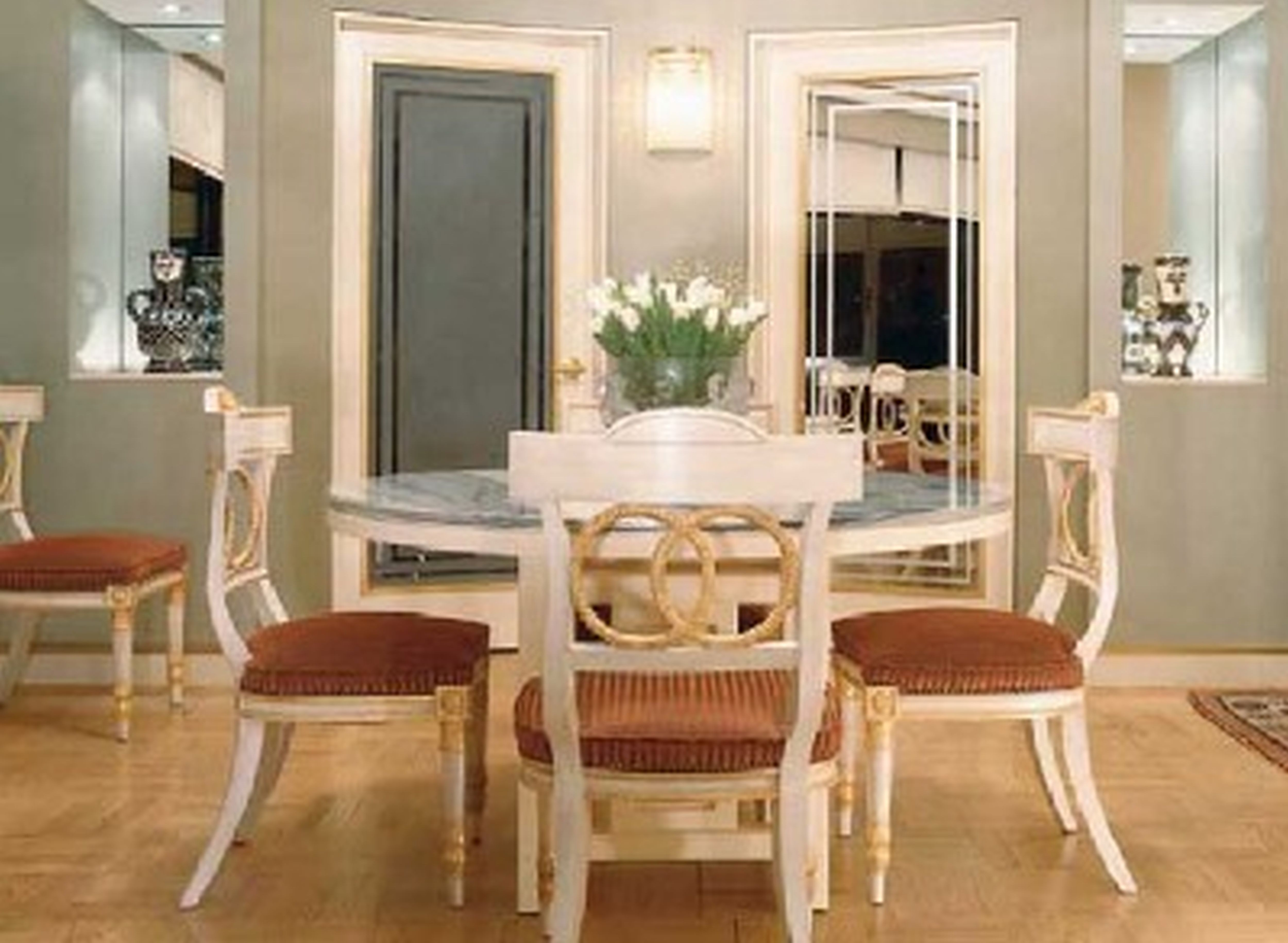 Best ideas about Dining Room Design Ideas . Save or Pin Charming Pedestal Rounded Dinette Table Set In White For 4 Now.