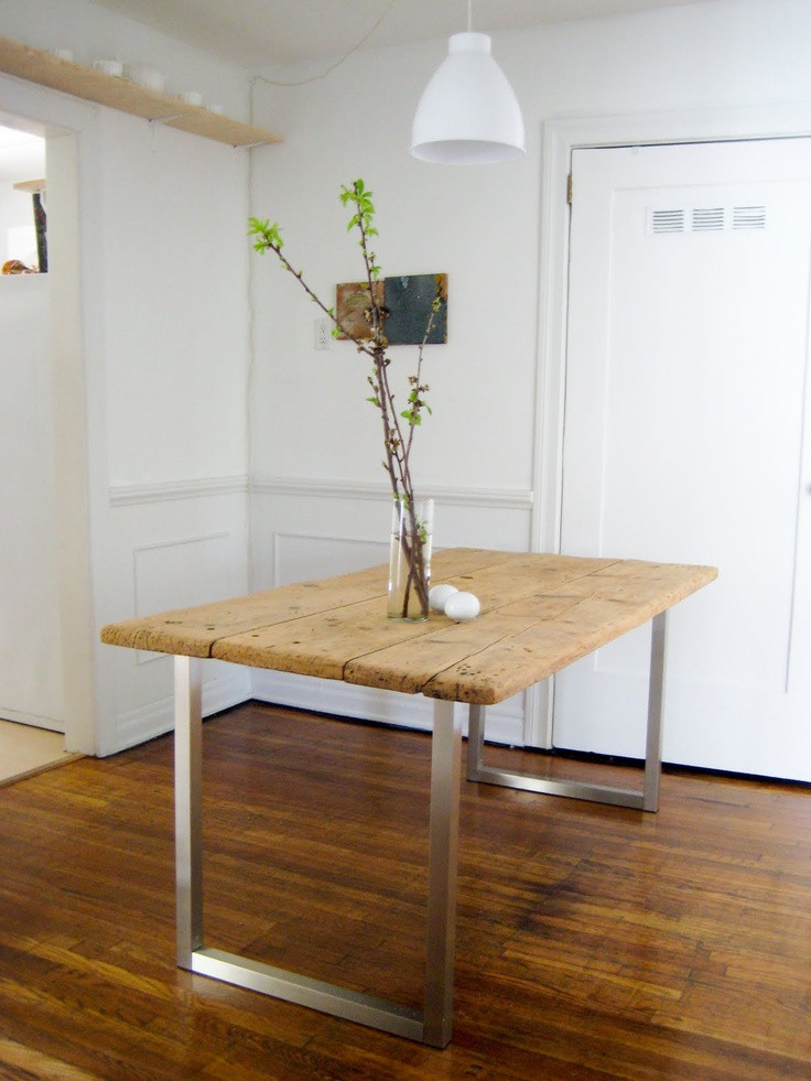 Best ideas about Dining Room Table Legs . Save or Pin old nasty kitchen table from the classifieds ikea legs Now.