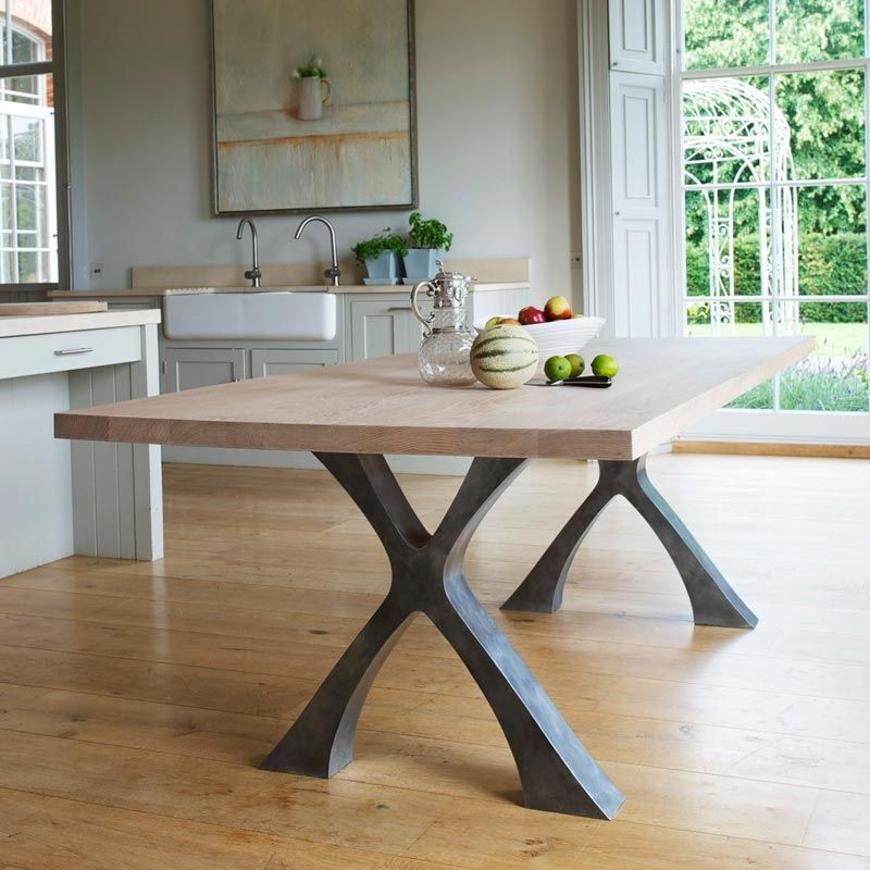 Best ideas about Dining Room Table Legs . Save or Pin dining tables with metal legs table legs Now.