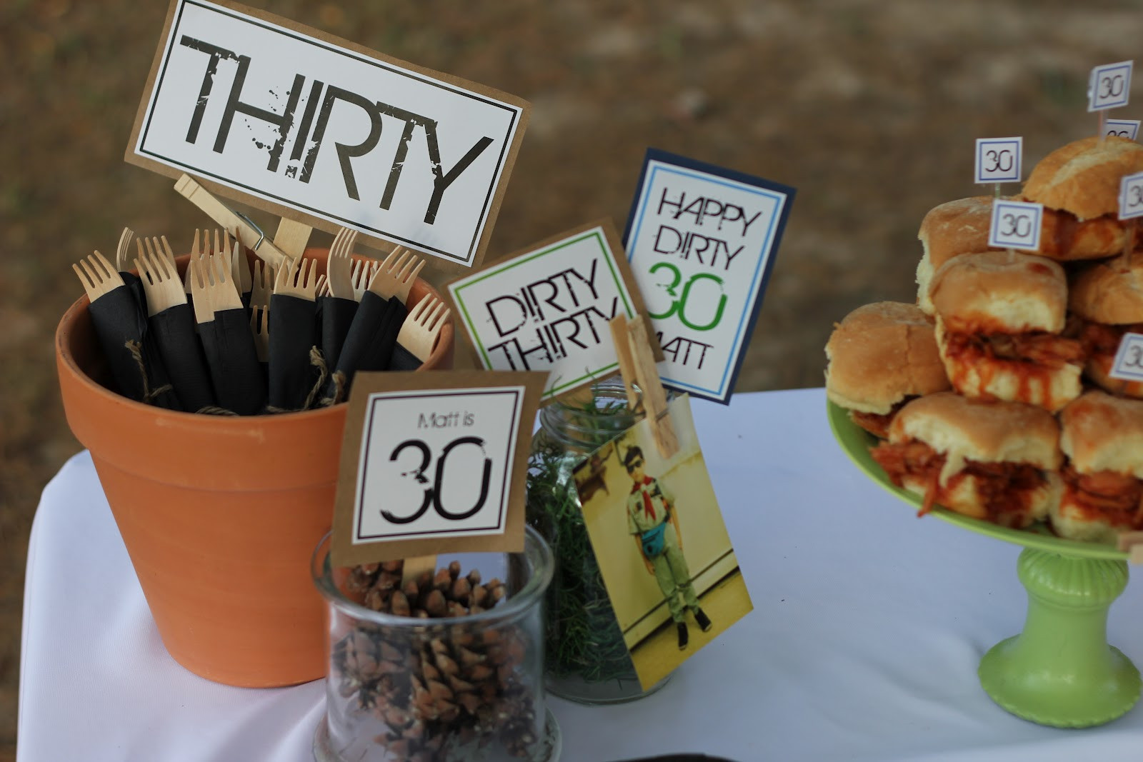 Best ideas about Dirty 30 Birthday Decorations . Save or Pin 7 Clever Themes for a Smashing 30th Birthday Party Now.
