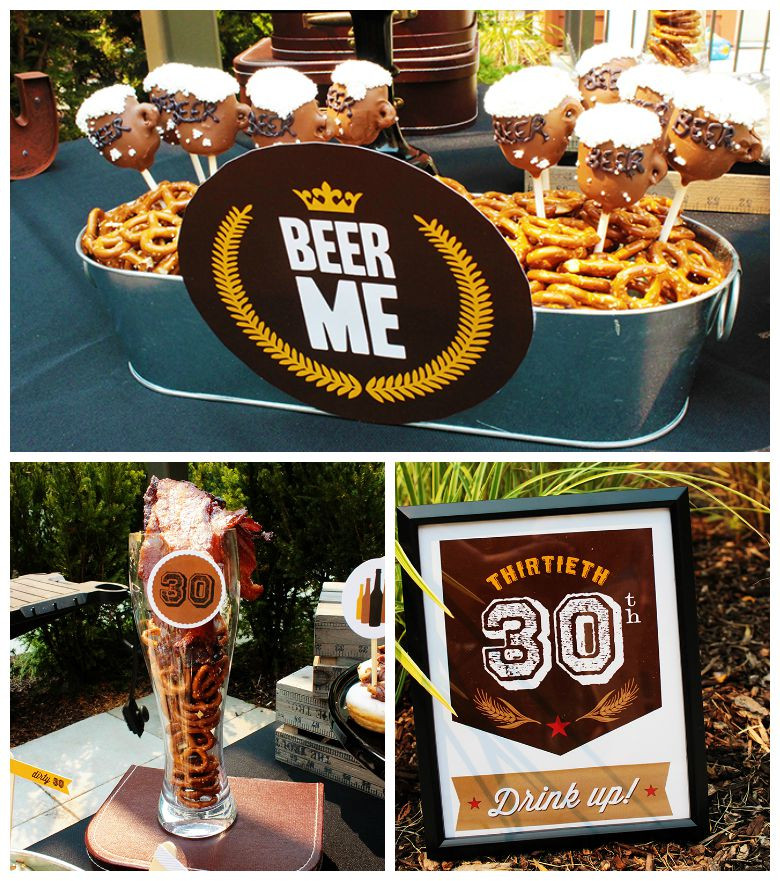 Best ideas about Dirty 30 Birthday Decorations . Save or Pin Epic Dirty Thirty Birthday Beer Party B Lovely Events Now.