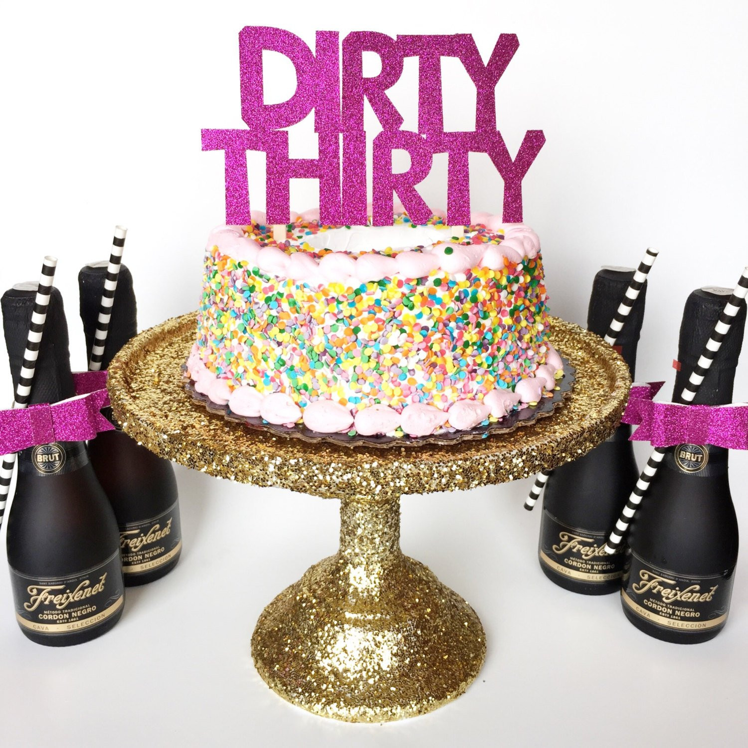 Best ideas about Dirty 30 Birthday Decorations . Save or Pin Dirty Thirty Cake Topper Birthday Party Party by Now.