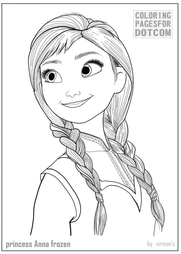 Best ideas about Disney Frozen Anna Free Printable Coloring Sheets . Save or Pin Princess Anna Frozen Coloring Pages 1 Now.