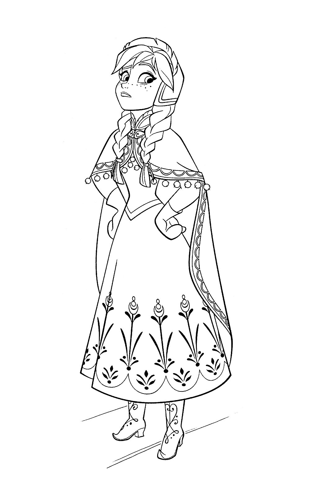 Best ideas about Disney Frozen Anna Free Printable Coloring Sheets . Save or Pin Anna Coloring Pages coloringsuite Now.