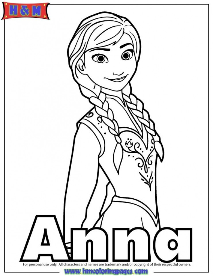 Best ideas about Disney Frozen Anna Free Printable Coloring Sheets . Save or Pin Get This Free Coloring Pages of Princess Anna from Disney Now.