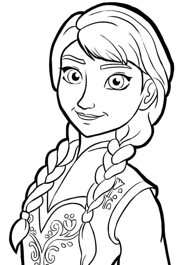 Best ideas about Disney Frozen Anna Free Printable Coloring Sheets . Save or Pin anna coloring pages Now.
