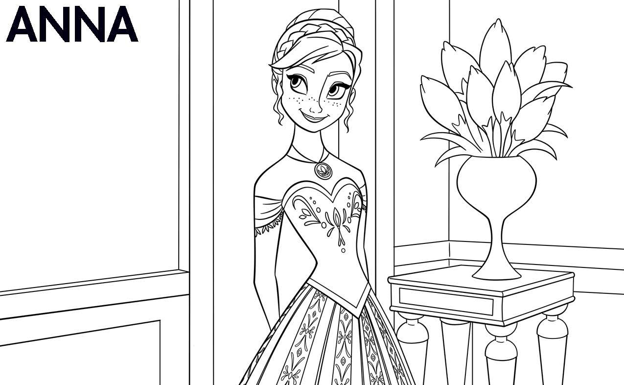Best ideas about Disney Frozen Anna Free Printable Coloring Sheets . Save or Pin Disney s Frozen Printable Color Sheets Highlights Along Now.