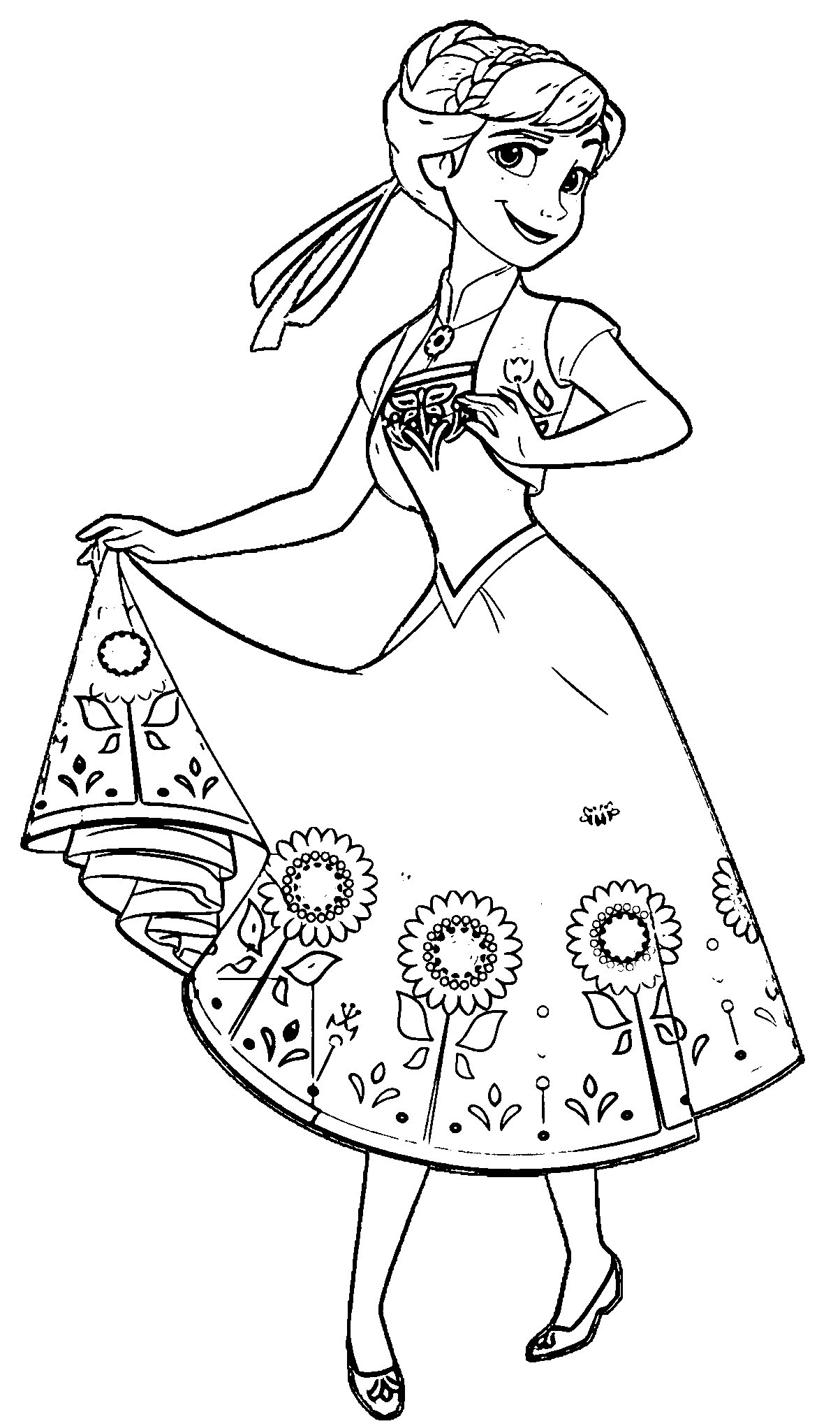 Best ideas about Disney Frozen Anna Free Printable Coloring Sheets . Save or Pin Elegant Elsa and Anna Coloring Pages – advance thun Now.