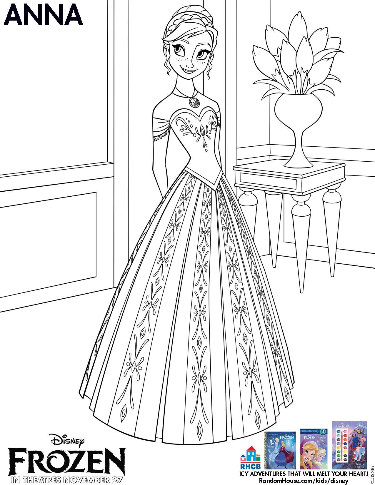 Best ideas about Disney Frozen Anna Free Printable Coloring Sheets . Save or Pin Disney s Frozen Printables Coloring Pages and Storybook App Now.