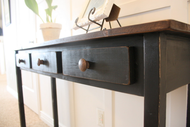 Best ideas about Distressed Entryway Table . Save or Pin COUNTRY GIRL HOME Entry Table 2 Black Distressed Now.