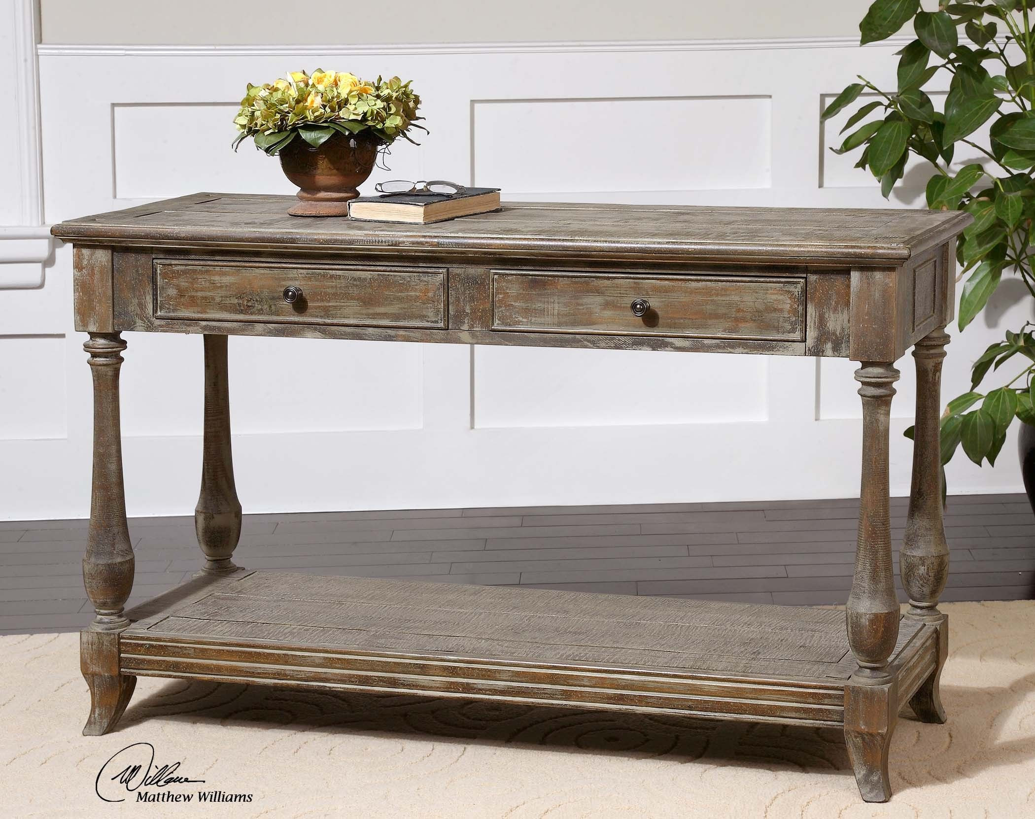 Best ideas about Distressed Entryway Table . Save or Pin Mardonio Distressed Console Table Now.