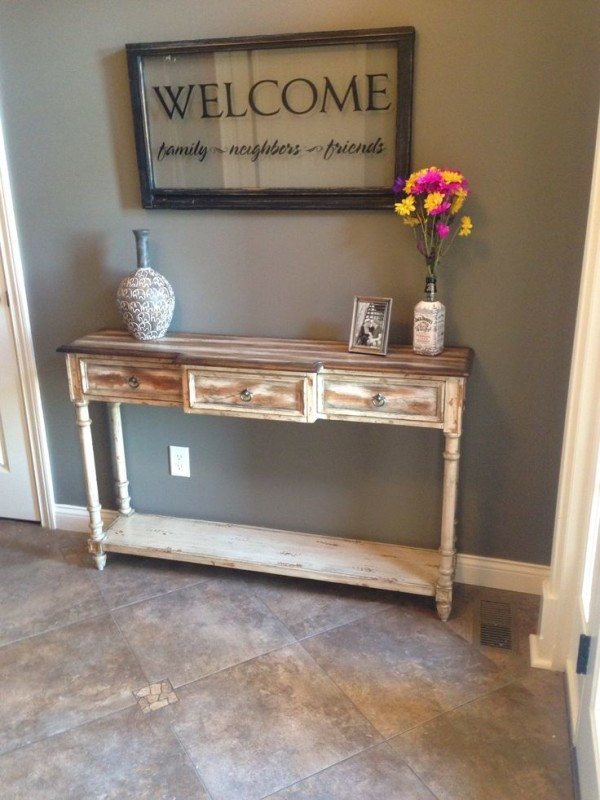 Best ideas about Distressed Entryway Table . Save or Pin Distressed Entryway Table – Centralazdining Now.