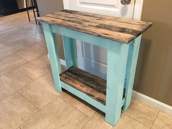 Best ideas about Distressed Entryway Table . Save or Pin Entryway Sofa Hall Table Distressed turquoise by Now.