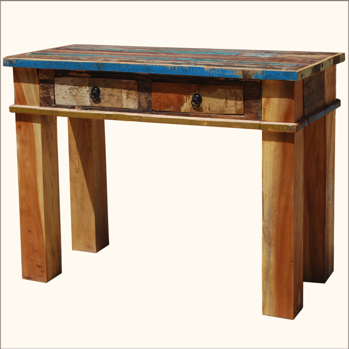 Best ideas about Distressed Entryway Table . Save or Pin Rustic Distressed Reclaimed Wood Console Hall Sofa Now.