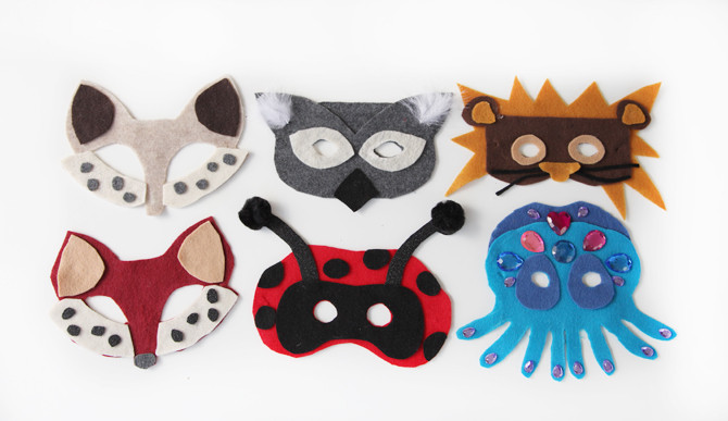 Best ideas about DIY Animal Masks . Save or Pin DIY No Sew Animal Masks Free Template Now.