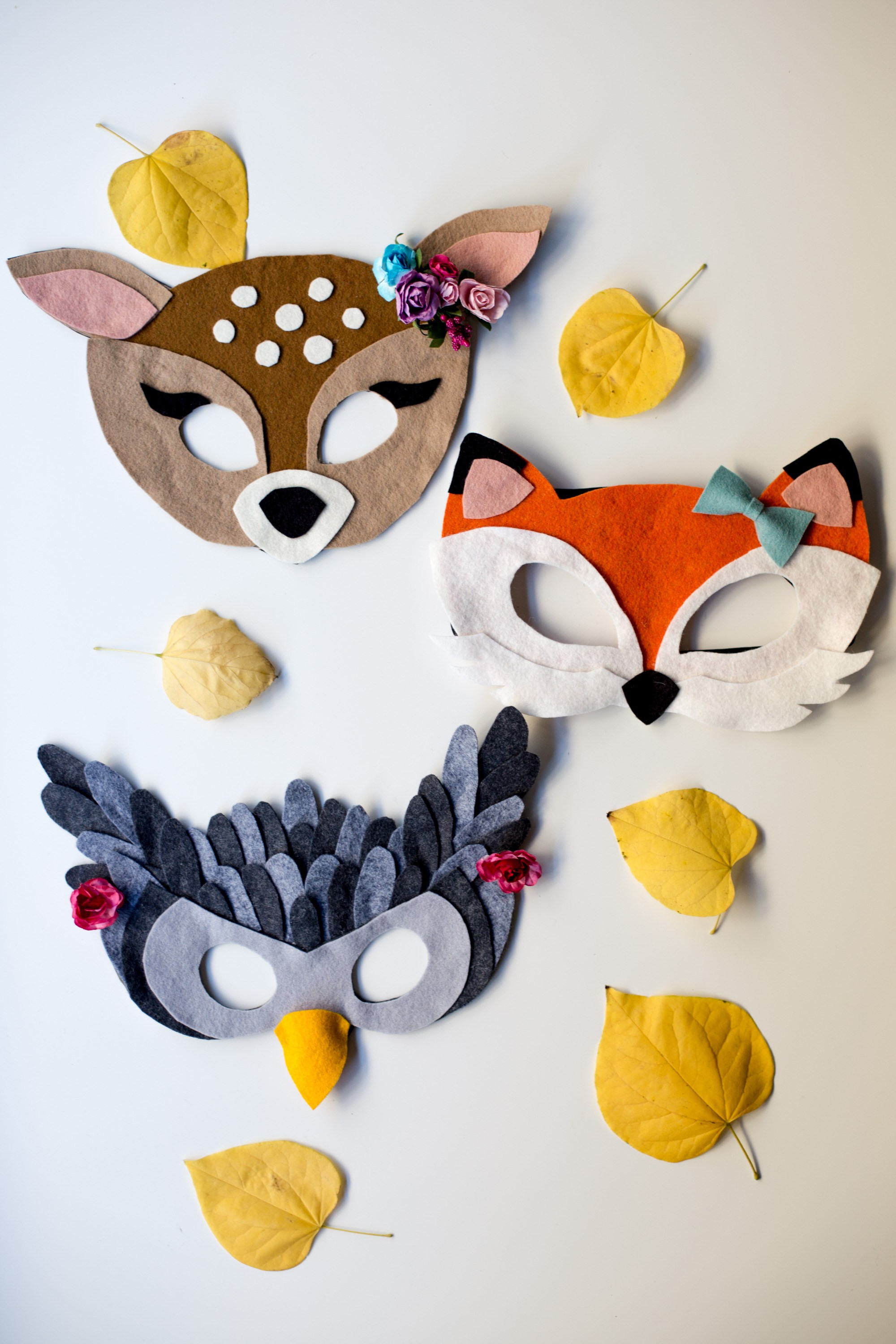 Best ideas about DIY Animal Masks . Save or Pin No Sew Free Felt Animal Mask Patterns Flax & Twine Now.