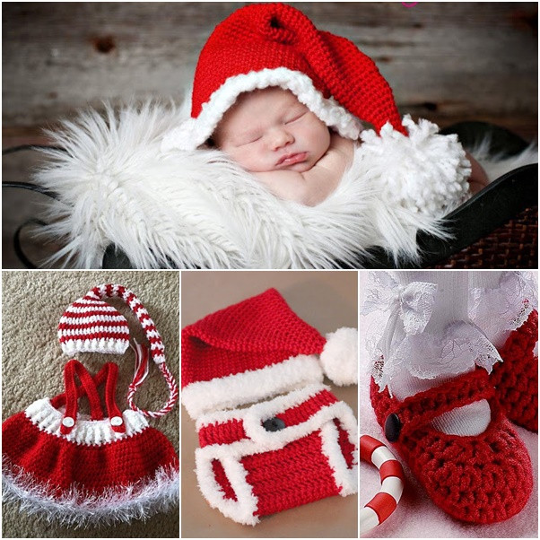 Best ideas about DIY Baby Christmas Pictures . Save or Pin DIY Crochet Baby Christmas Sets Free Pattern Now.