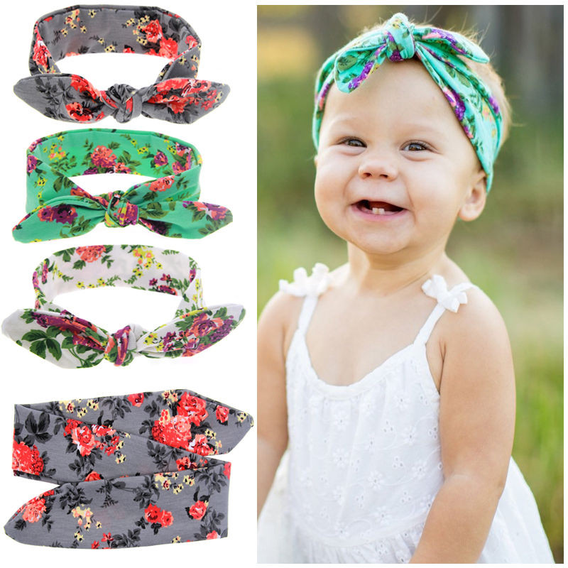 Best ideas about DIY Baby Turban Headbands . Save or Pin Baby Kids Girls Rabbit Ears Bow Turban Knot Headband DIY Now.