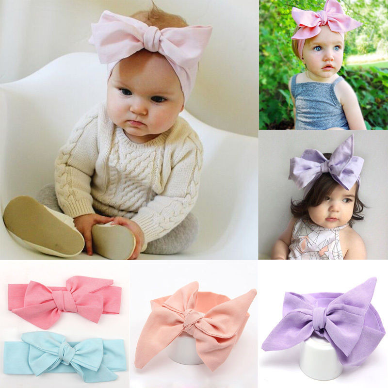 Best ideas about DIY Baby Turban Headbands . Save or Pin DIY Baby Kids Girl Turban Knot Headband Big Bow Adjustable Now.