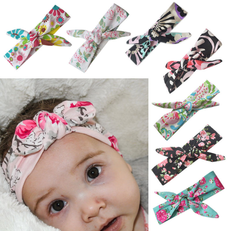 Best ideas about DIY Baby Turban Headbands . Save or Pin Baby Girls Bow Headband Rabbit Ear Hair Band Turban Knot Now.