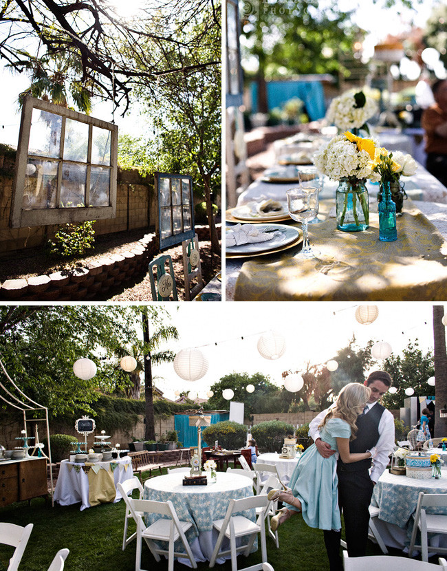 Best ideas about DIY Backyard Wedding . Save or Pin Real Wedding Catie Ben's Vintage Inspired Backyard Now.