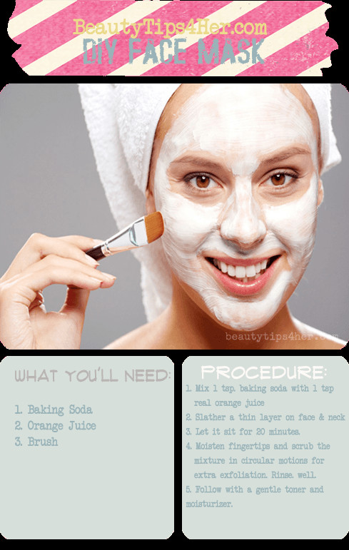 Best ideas about DIY Baking Soda Face Mask . Save or Pin Baking Soda and Orange Juice Mask for Hormonal Breakouts Now.
